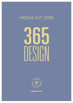 Media kit 365DESIGN - ENGLISH